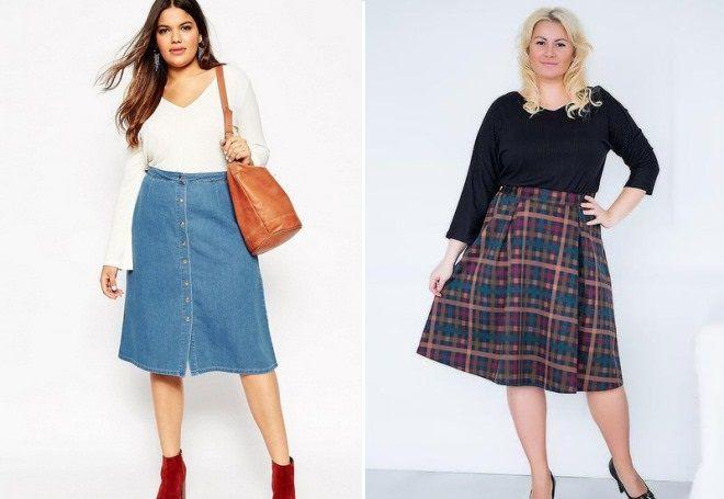 módní sukně pro plné