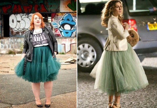 elegantní sukně pro obézní ženy