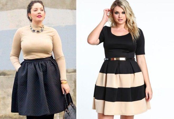 krásné sukně pro plné