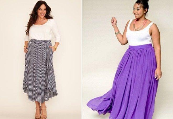 maxi sukně pro obézní ženy