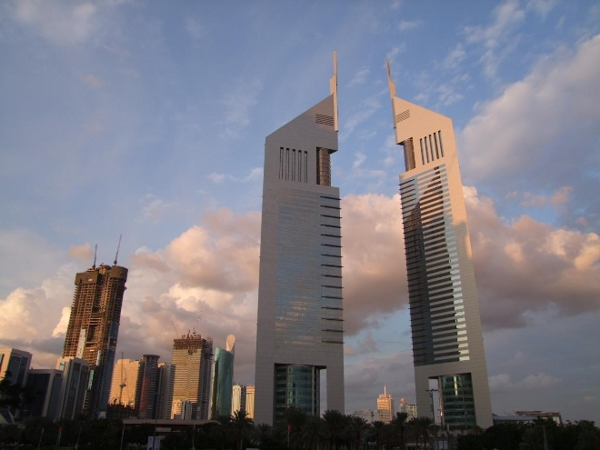 Эмиратская офисная башня №2 и №1