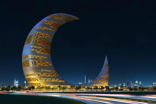 Crescent Moon Tower - лунная башня