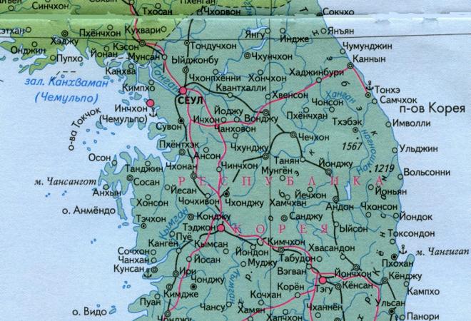 Сокчхо на карте