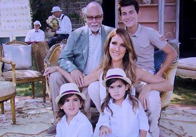 Селин Дион с супругом Рене Анджелилом и детьми