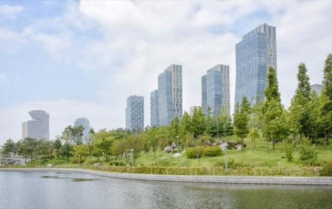 Центральный парк в Сонгдо