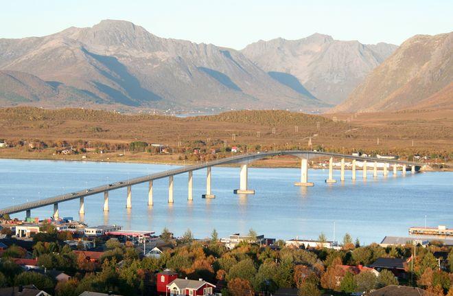 Автомобильный мост в Сортланне