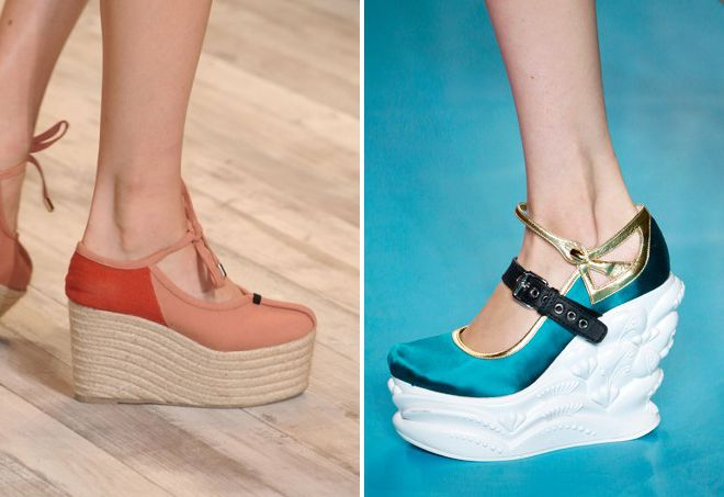 весенние туфли на платформе 2018