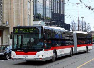 Автобусы в городе