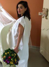 Елена Темникова в роддоме