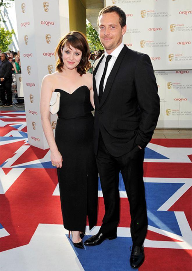 Клэр Фой с мужем