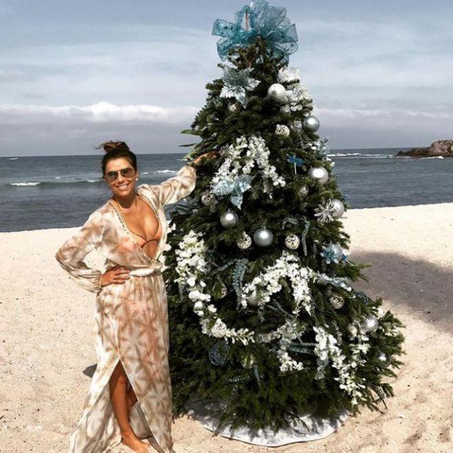 Рождественская елка на пляже - отличный вариант