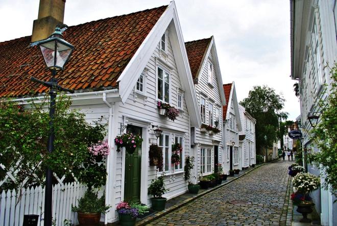 Белые дома Ставангера