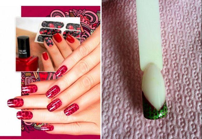 виниловые трафареты для ногтей