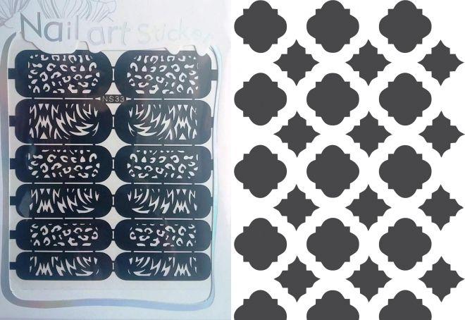 многоразовые трафареты для ногтей