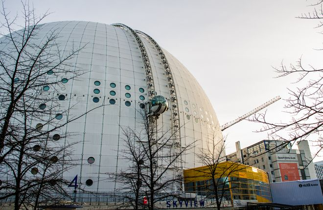 Смотровая площадка Sky View на спортивном комплексе Эрикссон-Глоб