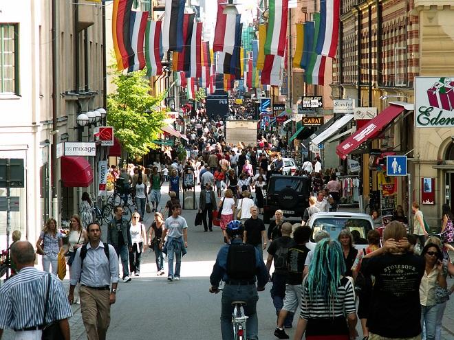Пешеходная улица Дроттнинггатан