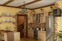 kamień dekoracyjny we wnętrzu kuchni3