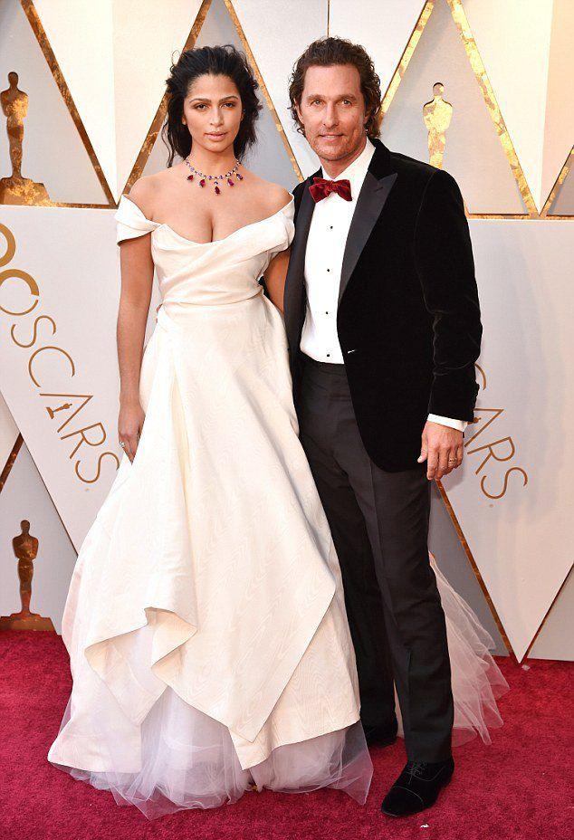 Камила Альвес и Мэттью Макконахи на «Оскаре 2018»