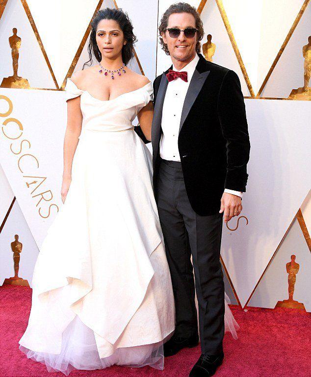 Пара Мэттью Макконахи и Камилла Алвес на «Оскаре 2018»