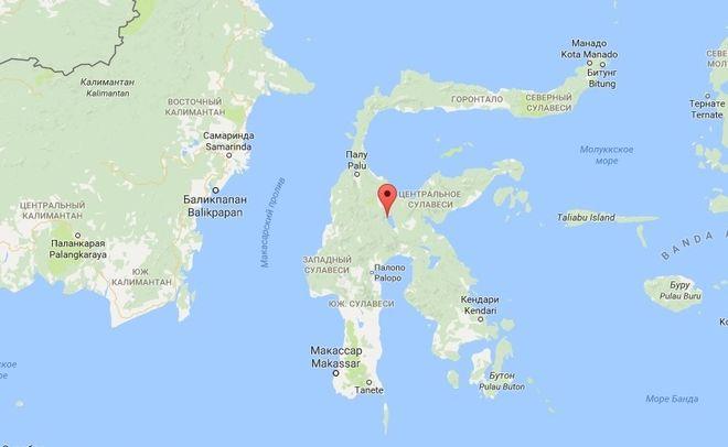 Сулавеси на карте мира