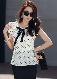 ljetne bluze s kratkim rukavima sifonom 10