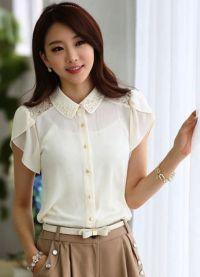 ljetne bluze s kratkim rukavima sifonom 3