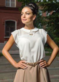 ljetne bluze s kratkim rukavima sifonom 9