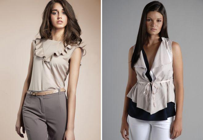 летние блузки без рукавов
