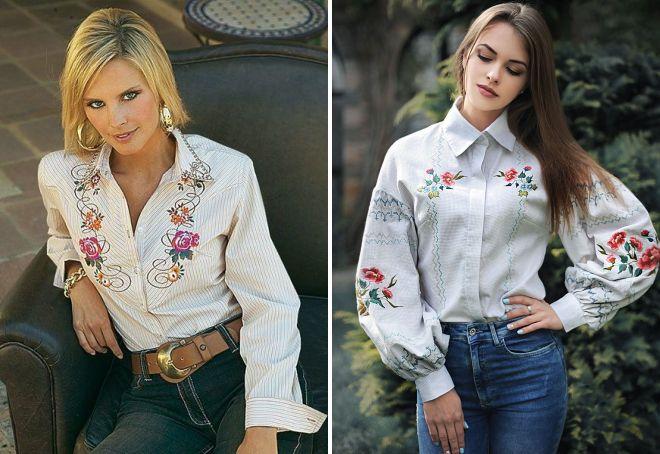 модные летние блузки с вышивкой