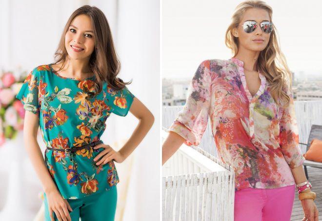 цветные летние блузки