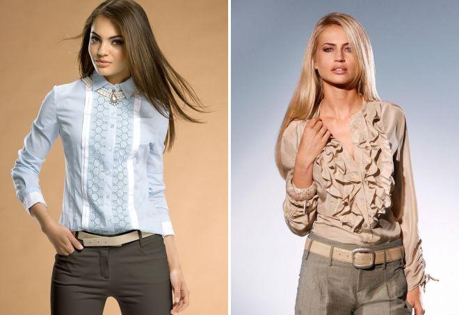 летние блузки с длинным рукавом
