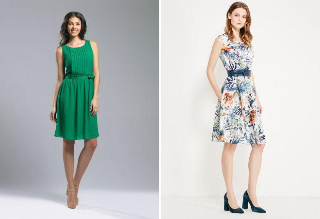 фасоны летних платьев 2018