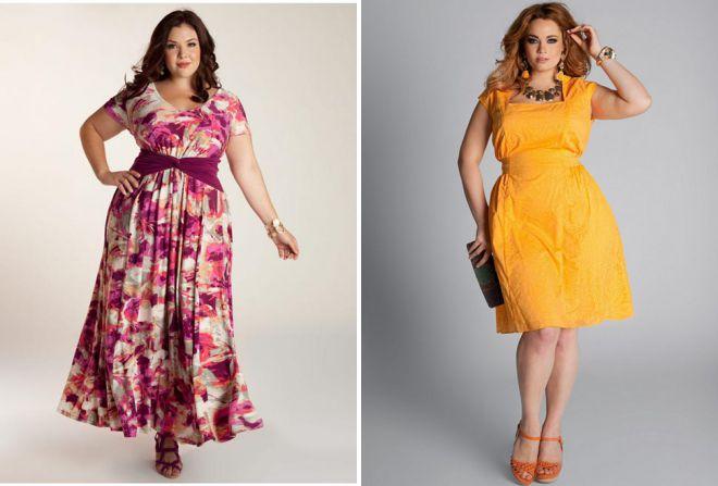 летние платья для полных женщин 2018