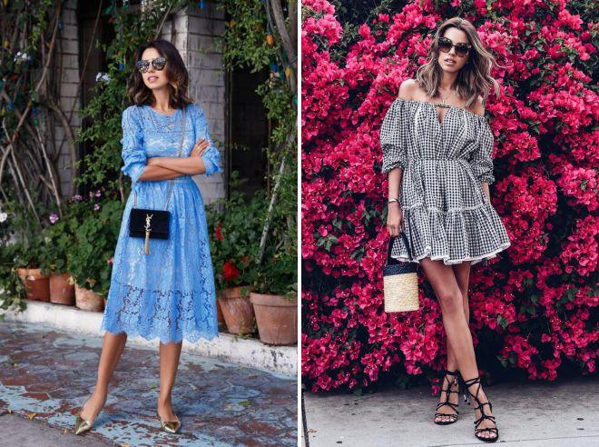летние образы 2018 с платьем