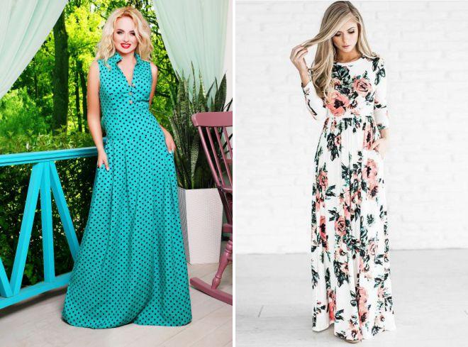 длинные летние платья 2018