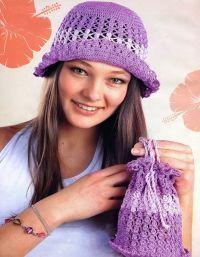 Szydełkowe czapki letnie 2
