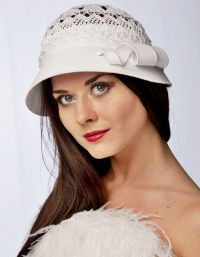Szydełkowane czapki letnie 4