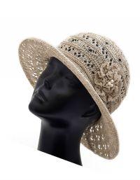 Szydełkowe czapki letnie 6