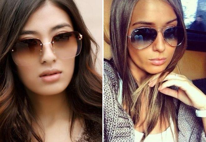 очки от солнца с градиентом
