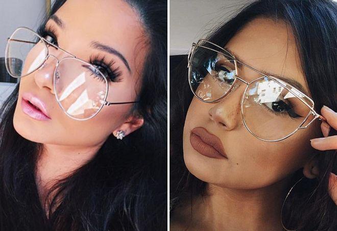 очки от солнца с прозрачными стеклами