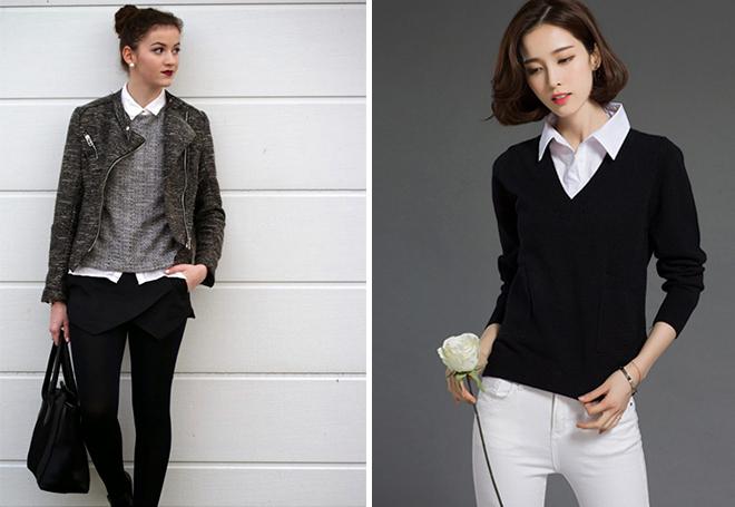 Sweter z koszuli