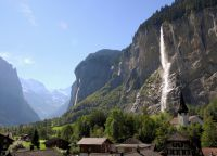 Долина водопадов в Лаутербруннене