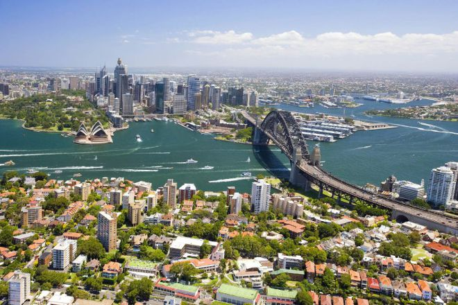 Вид на Сиднейскую бухту
