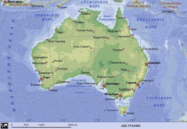 Sydney na zemljevidu