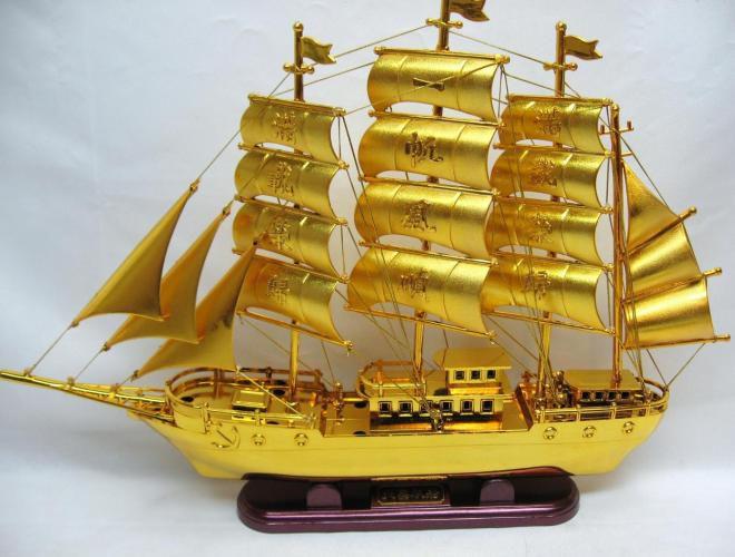brod simbol bogatstva feng shui