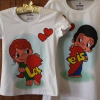 seznanjeni t-shirts mož in žena 20