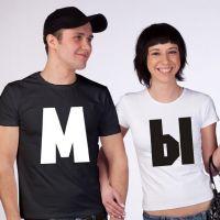 seznanjeni t-majice mož in žena 2