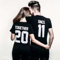 seznanjeni t-majice mož in žena 10
