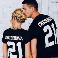 seznanjene t-majice mož in žena 12