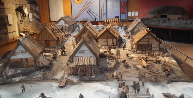 Часть макета поселения